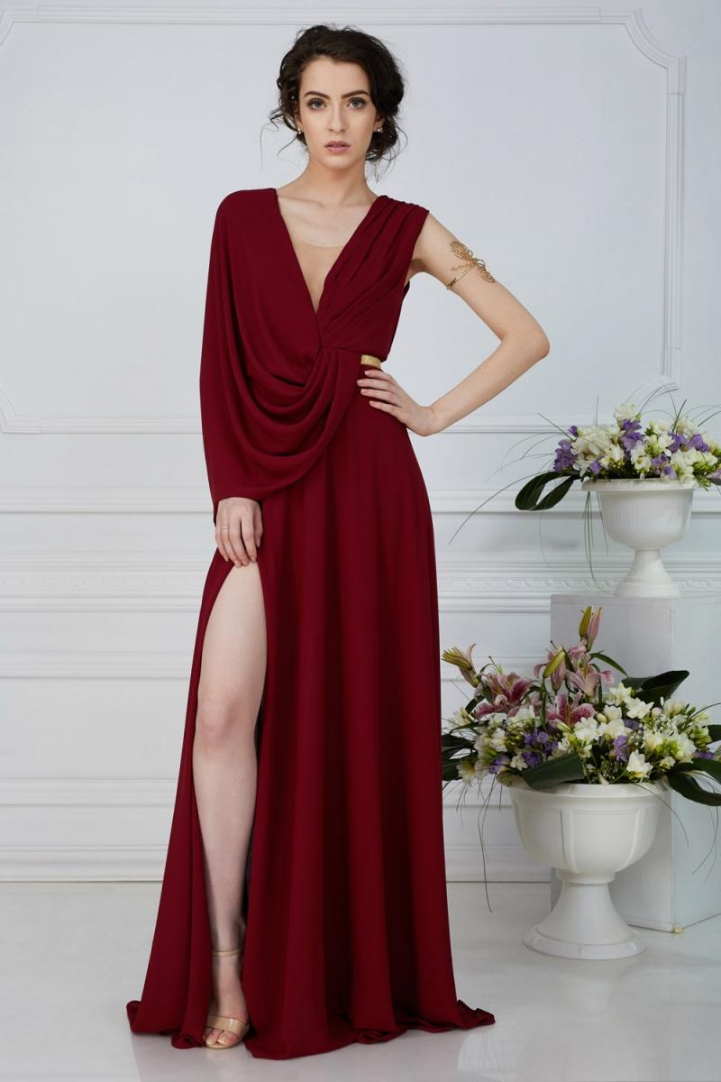 Rochie de seara cu drapaje ATHENA